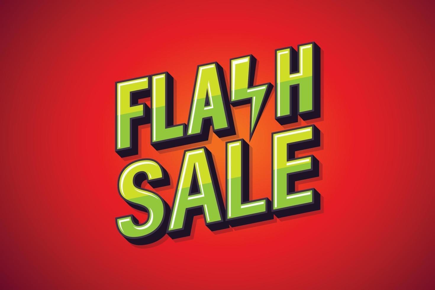 flash-verkoop, toespraak poster. tekst kunst ontwerp. online marketingontwerp. vector illustratie