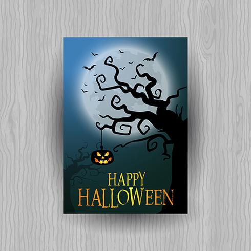 Griezelige Halloween-achtergrond vector