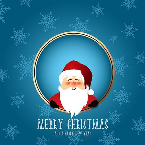 Leuke santa Kerstmis achtergrond vector