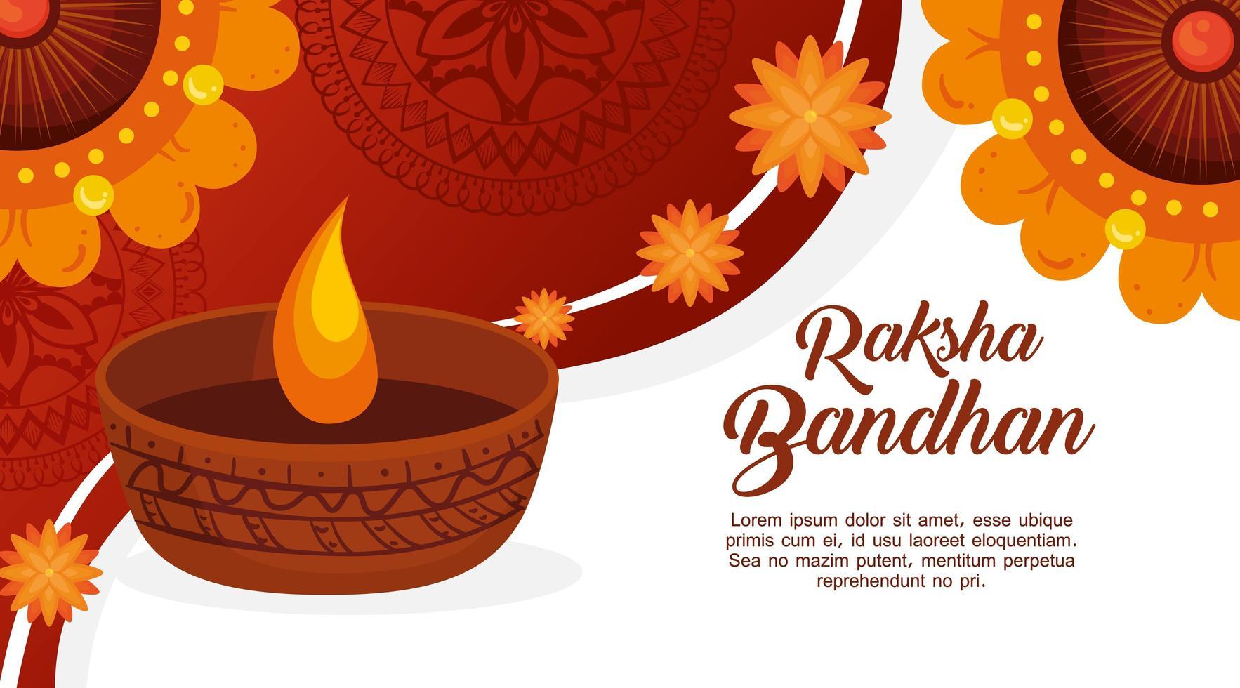 wenskaartsjabloon voor raksha bandhan vector