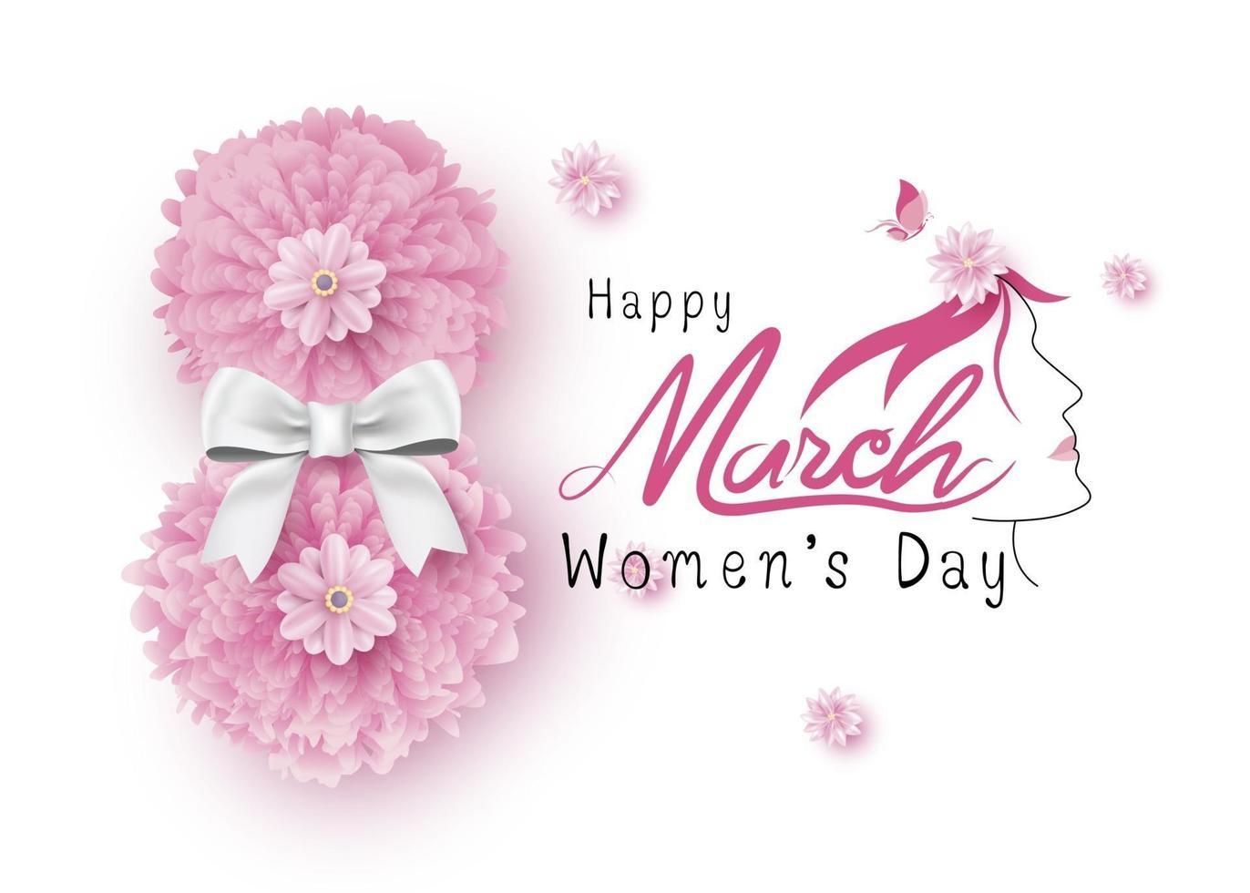 8 maart gelukkige vrouwendag vectorillustratie vector