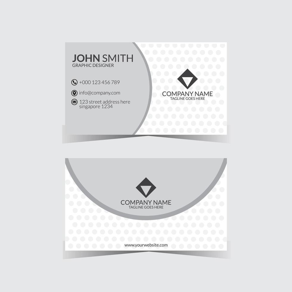 eenvoudige grijze en witte moderne visitekaartjesjabloon vector