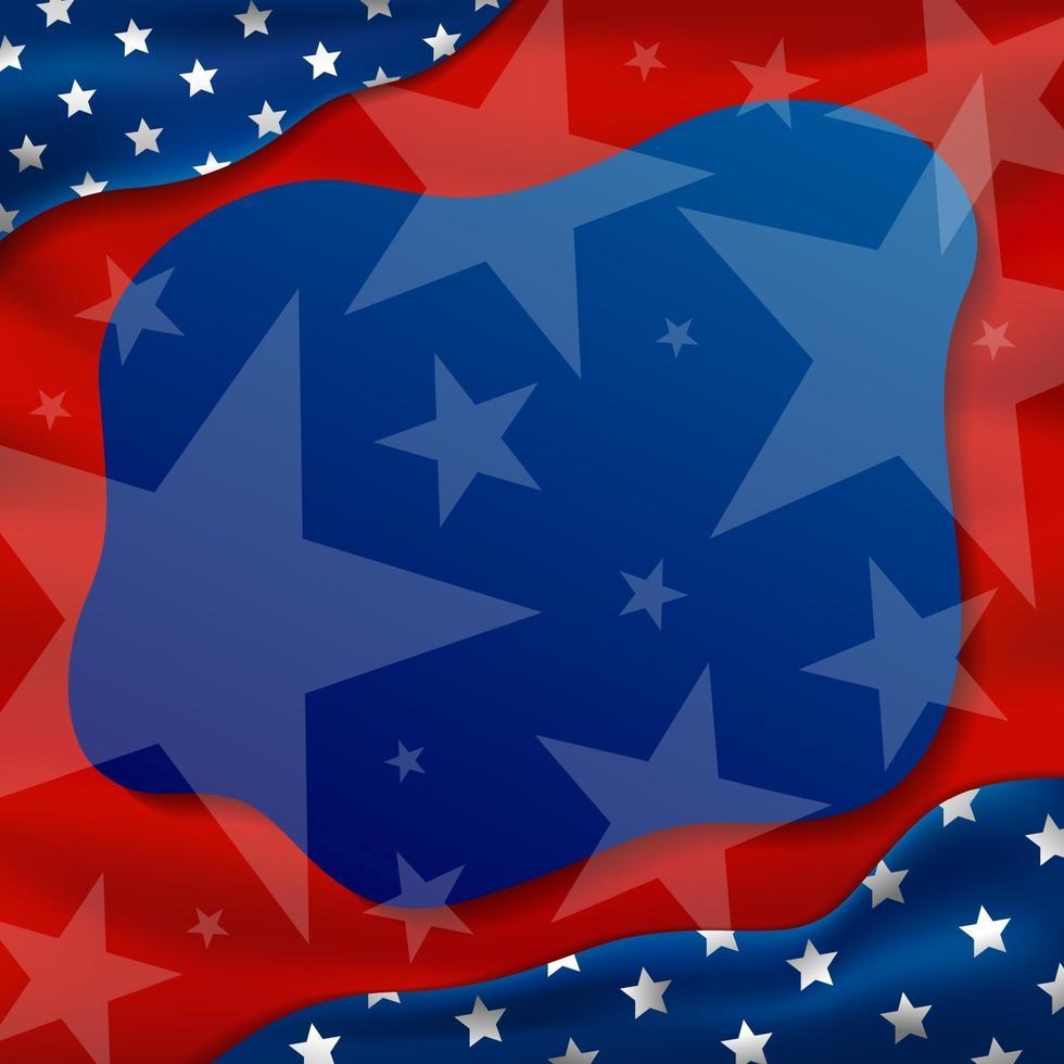 Amerika of de VS vakantie achtergrond 4 juli onafhankelijkheidsdag en andere viering vectorillustratie vector