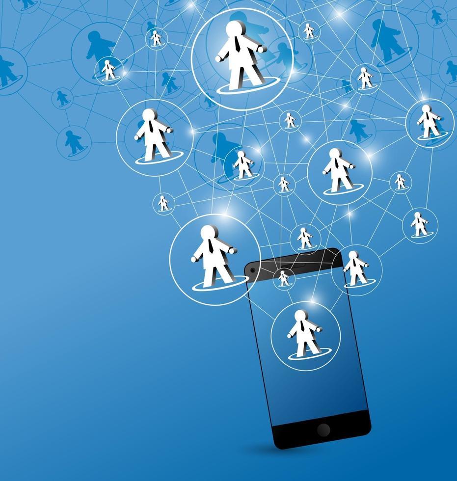 sociaal netwerk ontwerp vectorillustratie vector