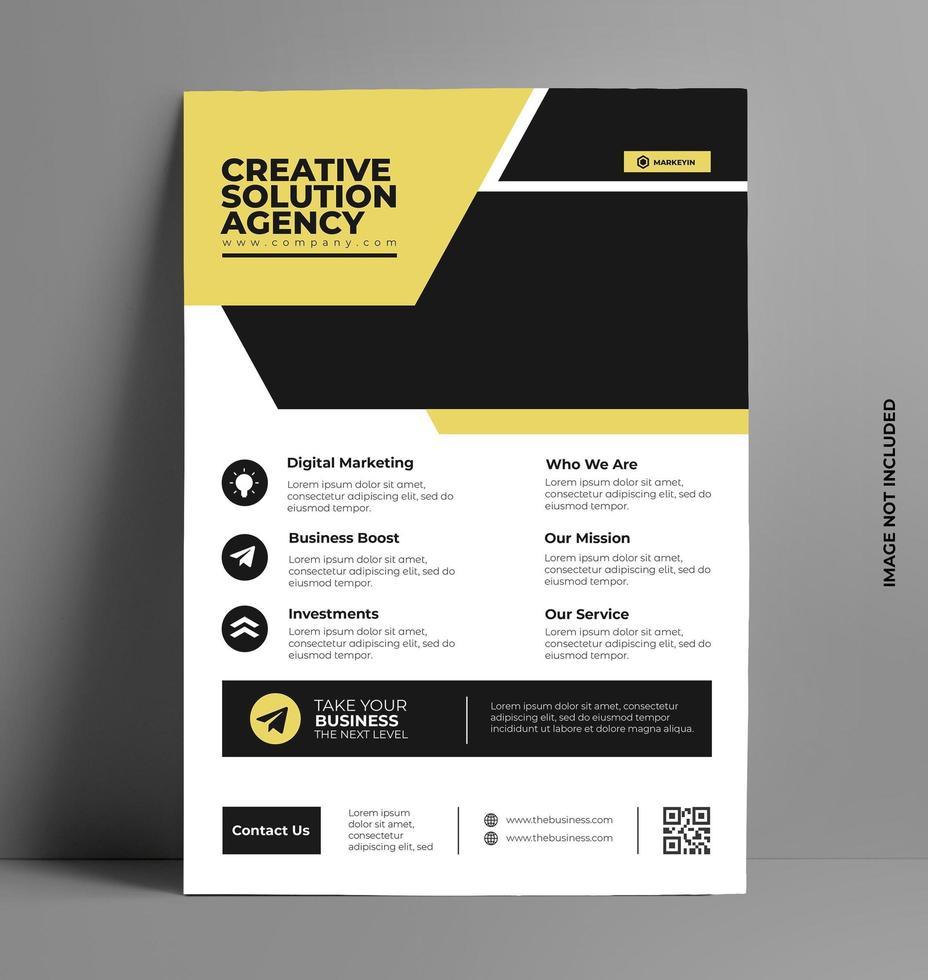 print vector brochure folder sjabloon.