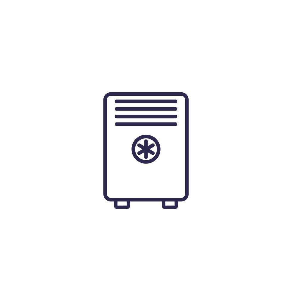 airconditioner, mobiele ac lijn icon.eps vector