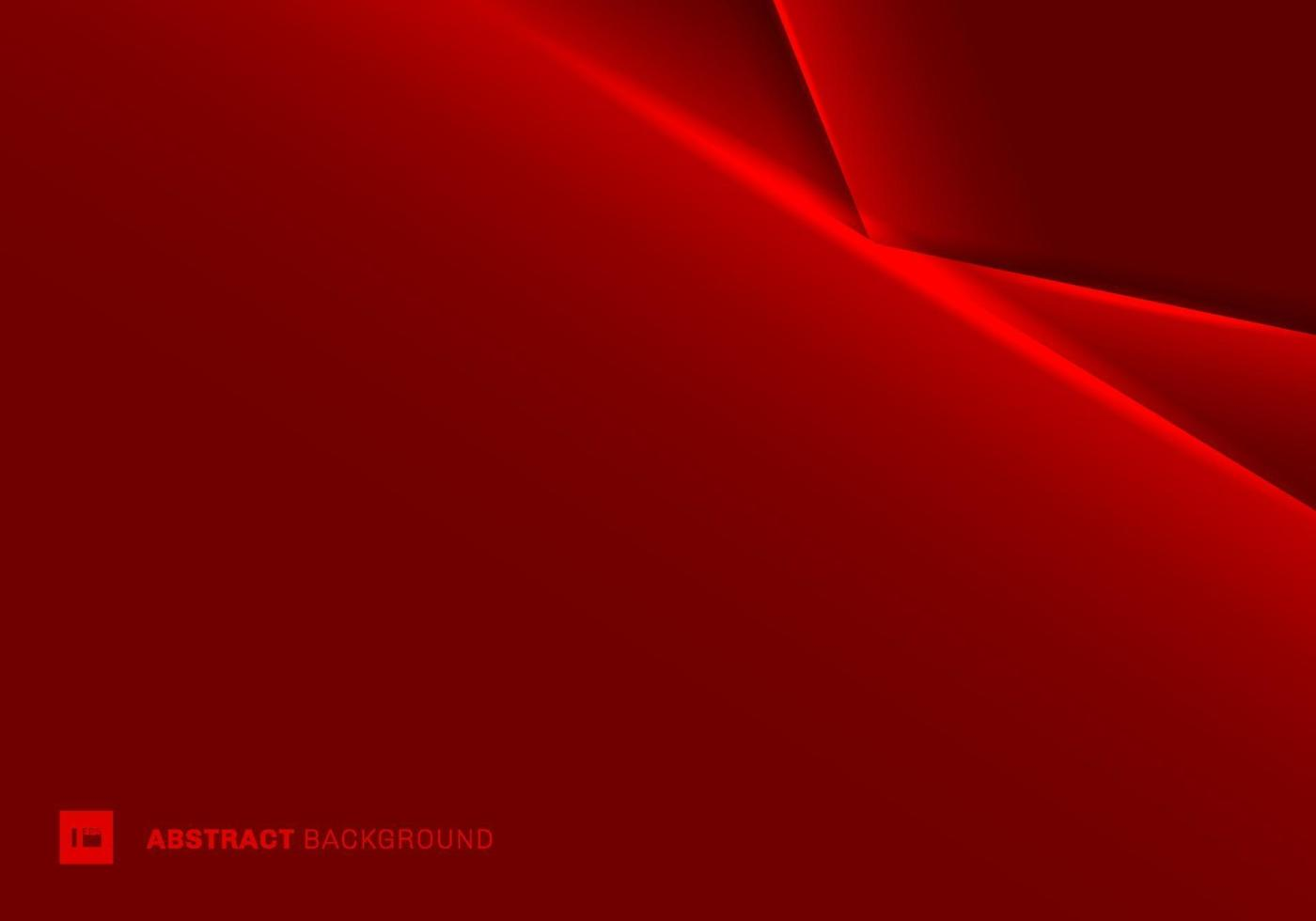 abstracte sjabloon rood frame lay-out metallic licht op donkere achtergrond. futuristisch technologieconcept. vector