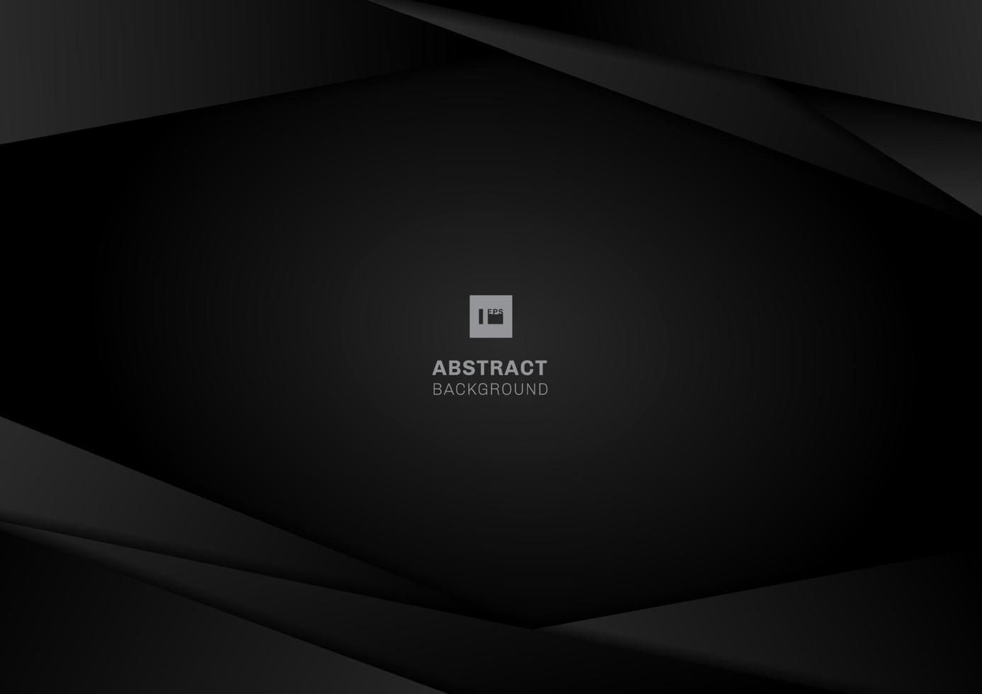 abstracte sjabloon zwarte geometrische frame-indeling. modern technologieontwerp op donkere achtergrond. vector