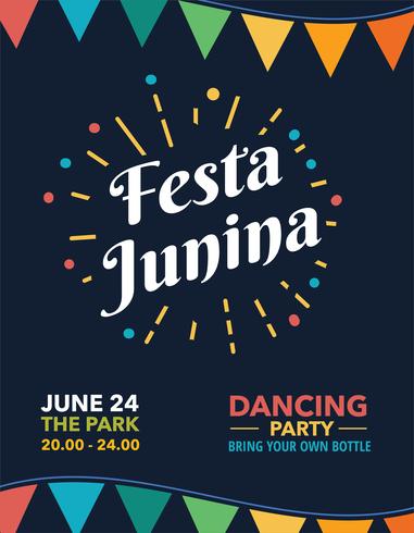 Festa Junina-poster vector