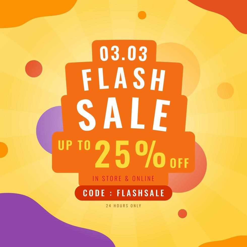 3.3 Flash-verkooppromotiebanner. trendy ontwerpsjabloon voor reclame, sociale media, zaken, mode-advertenties, enz. vectorillustratie. vector