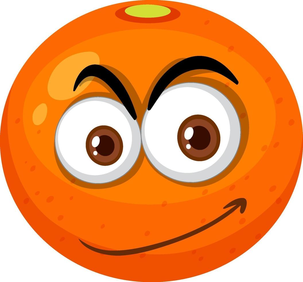 oranje stripfiguur met blij gezicht expressie op witte achtergrond vector