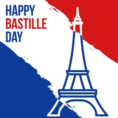 gelukkige bastille-dag vector
