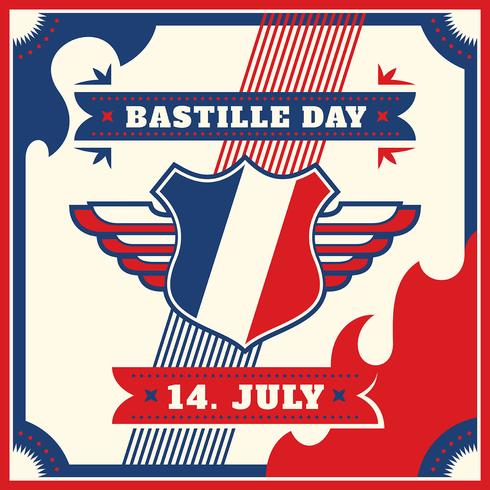 Bastille-dag vector