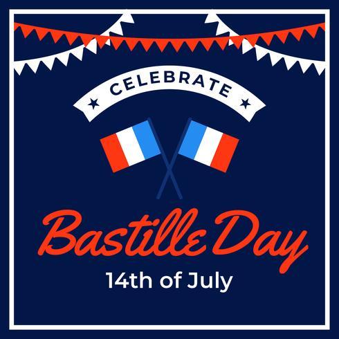 Vier de dag van de bastille vector