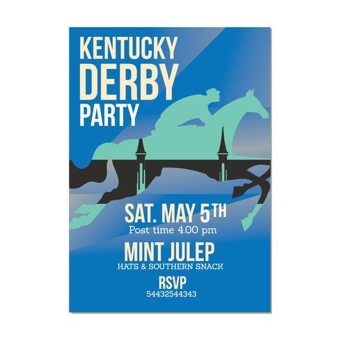 Uitnodiging sjabloon voor paardenrennen evenement vector