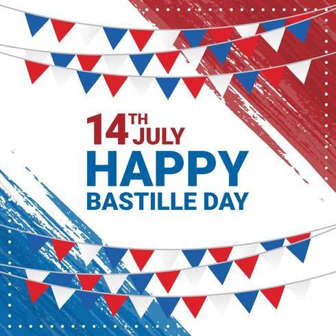 Happy Bastille Day achtergrond vector