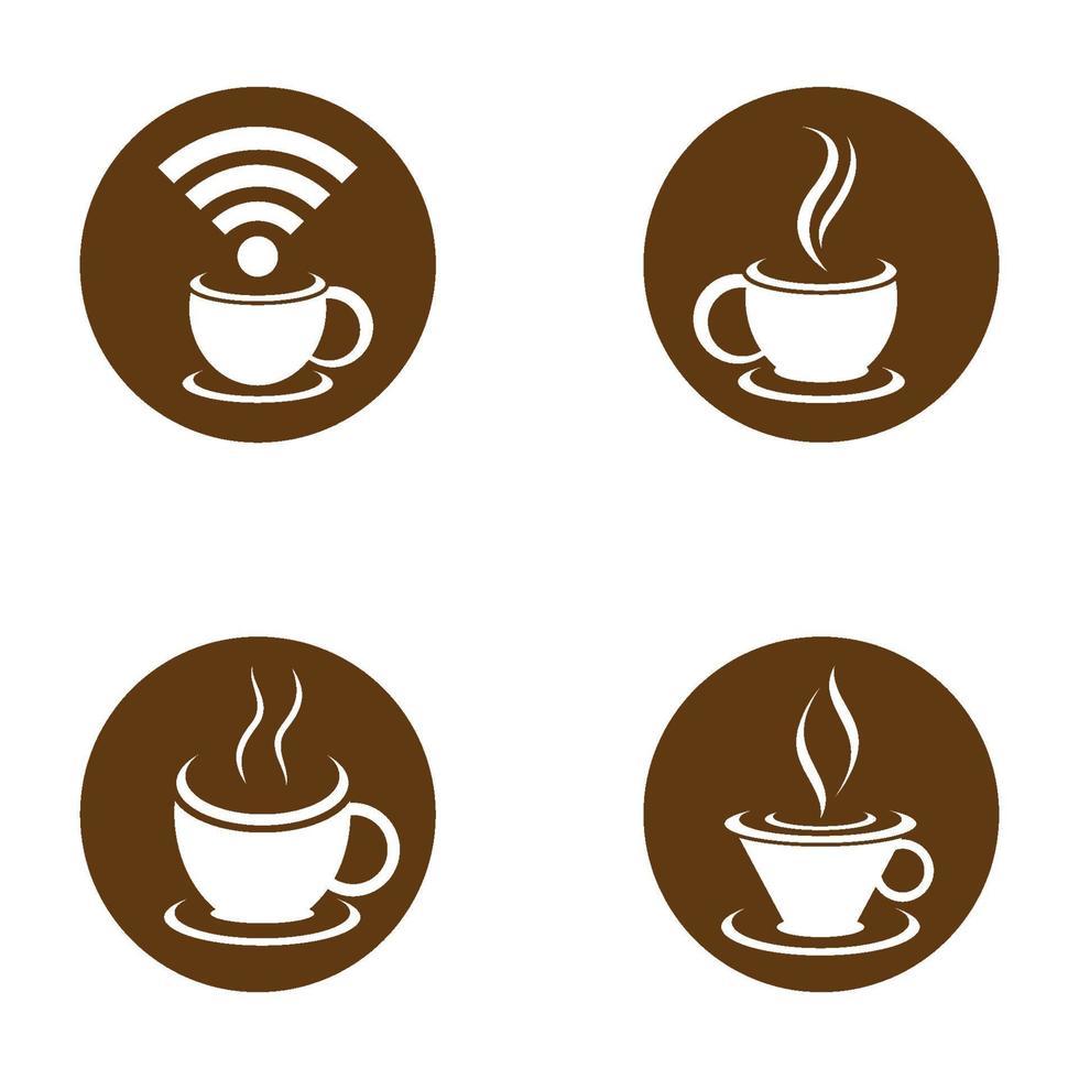 koffiekopje logo afbeeldingen vector