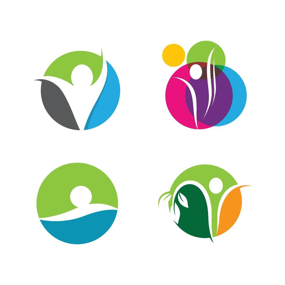 wellness logo afbeeldingen ontwerp vector