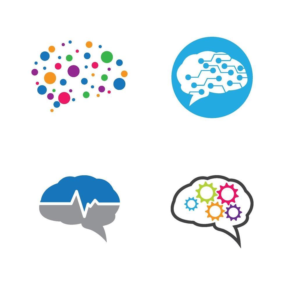 hersenen logo afbeeldingen vector