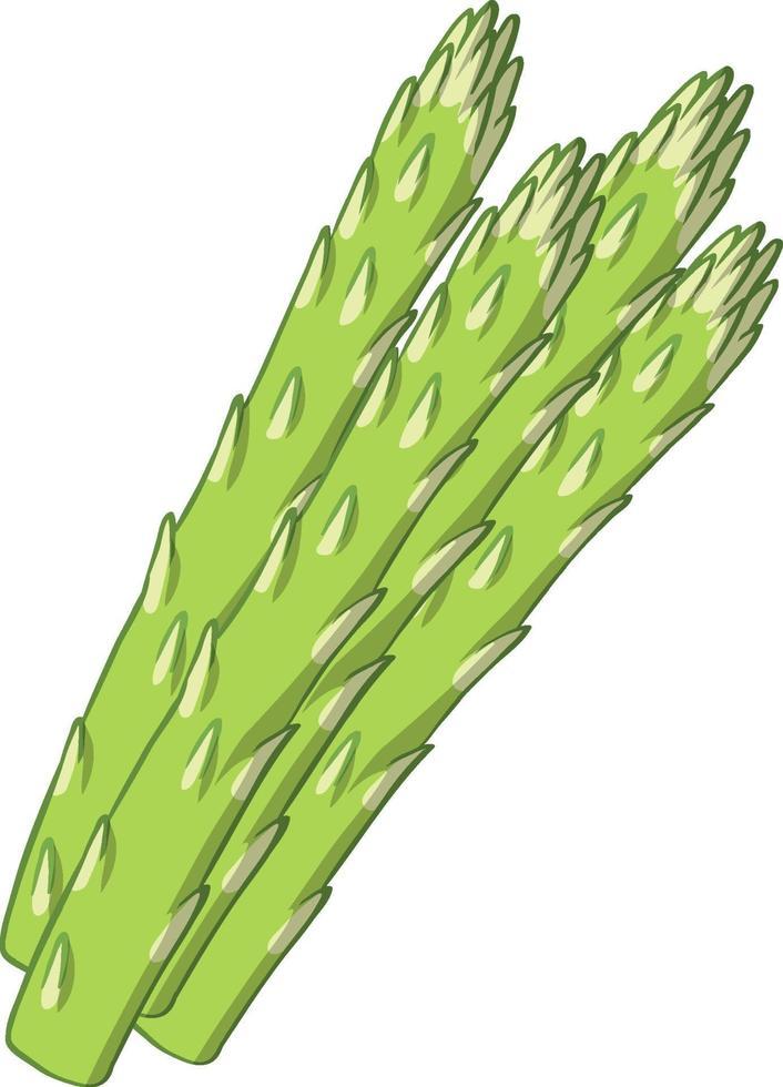 geïsoleerde asperges op witte achtergrond vector