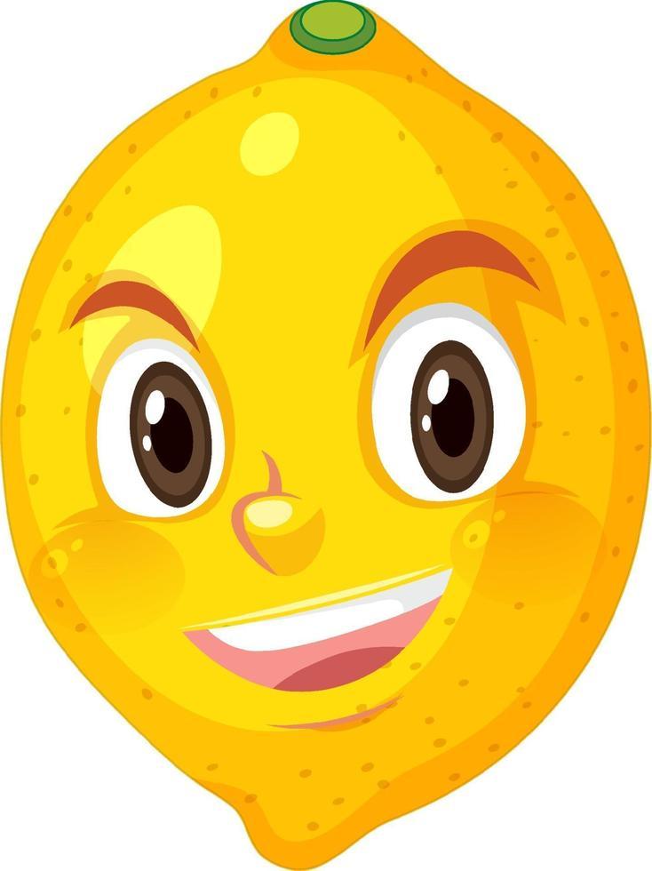 citroen stripfiguur met blij gezicht expressie op witte achtergrond vector