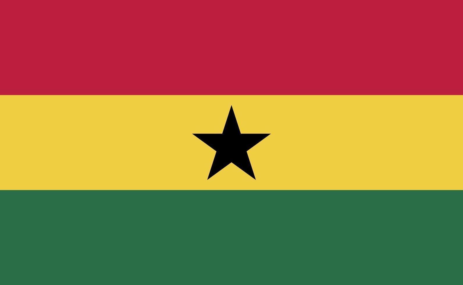 nationale vlag van Ghana in exacte verhoudingen - vectorillustratie vector