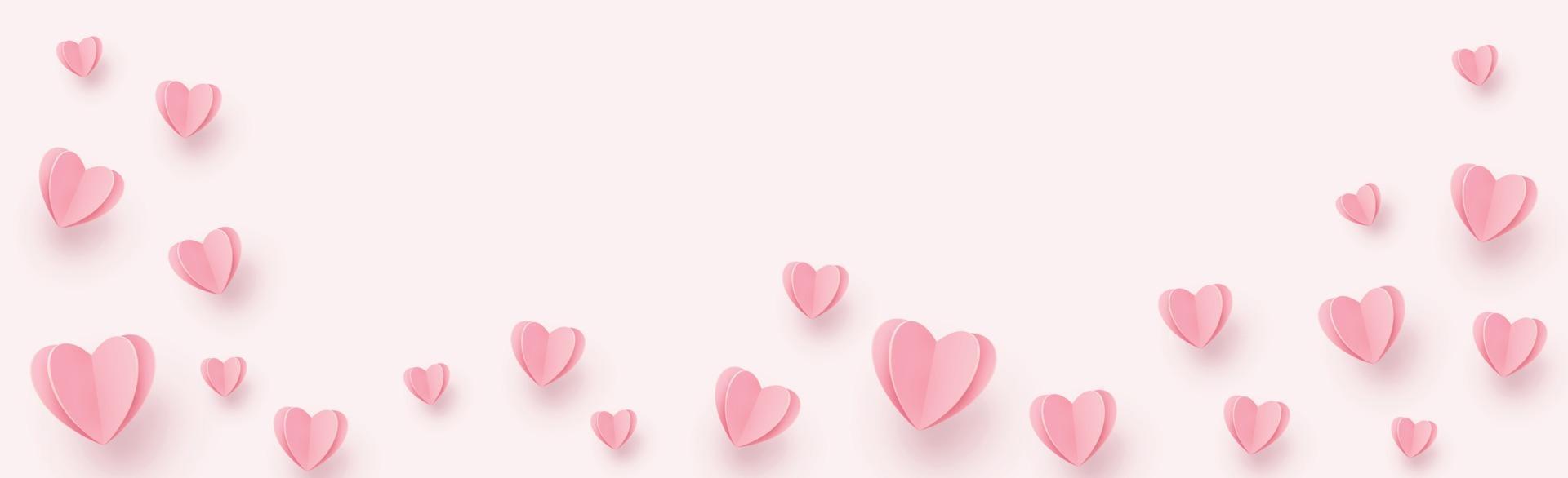 Gentley roze-rode harten op een roze achtergrond - afbeelding vector