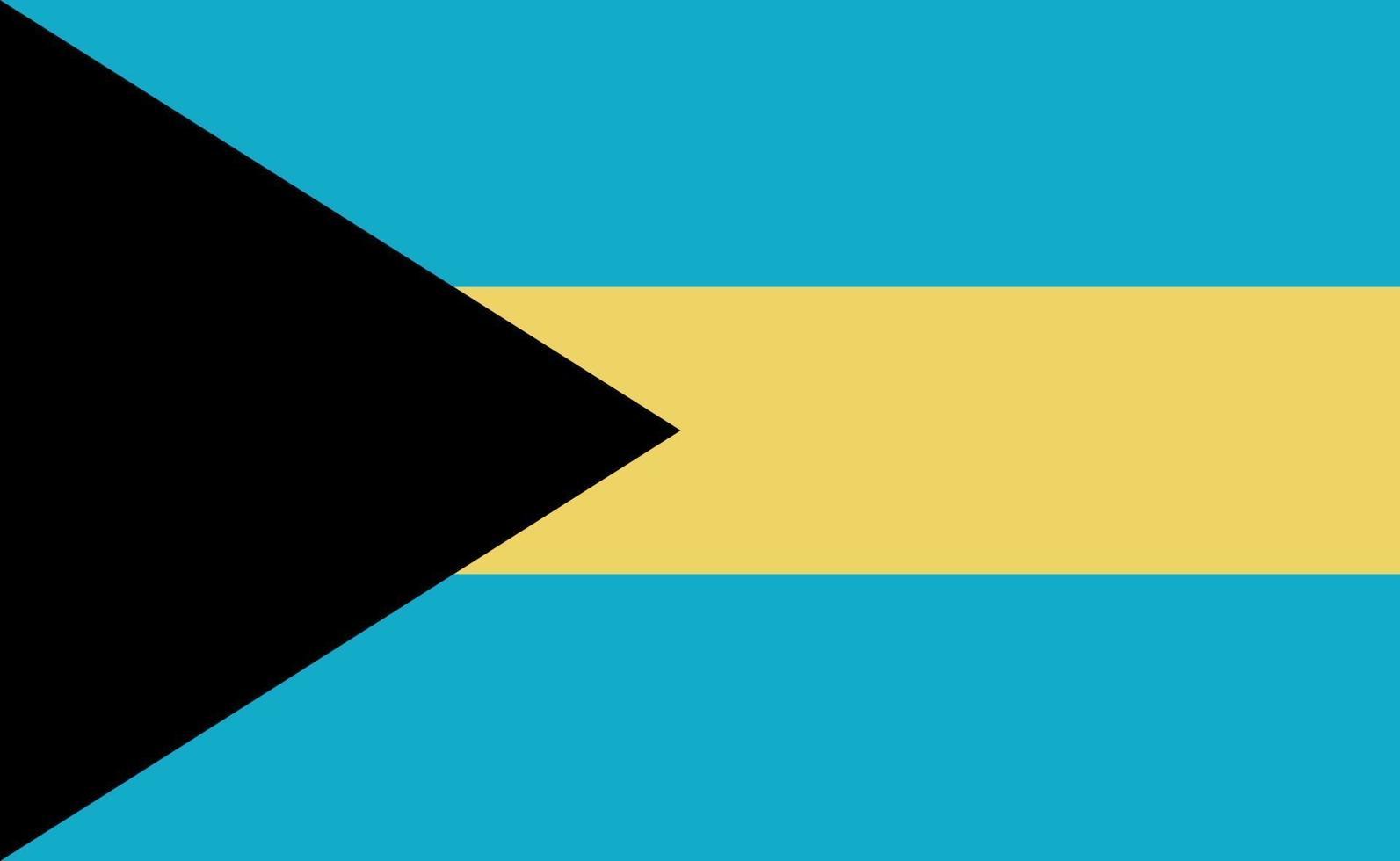 Nationale vlag van Bahama's in exacte verhoudingen - vectorillustratie vector