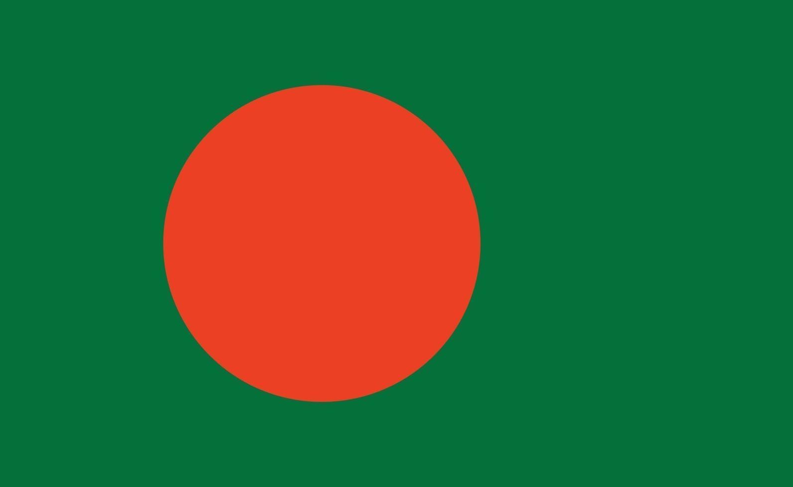 nationale vlag van Bangladesh in exacte verhoudingen - vectorillustratie vector