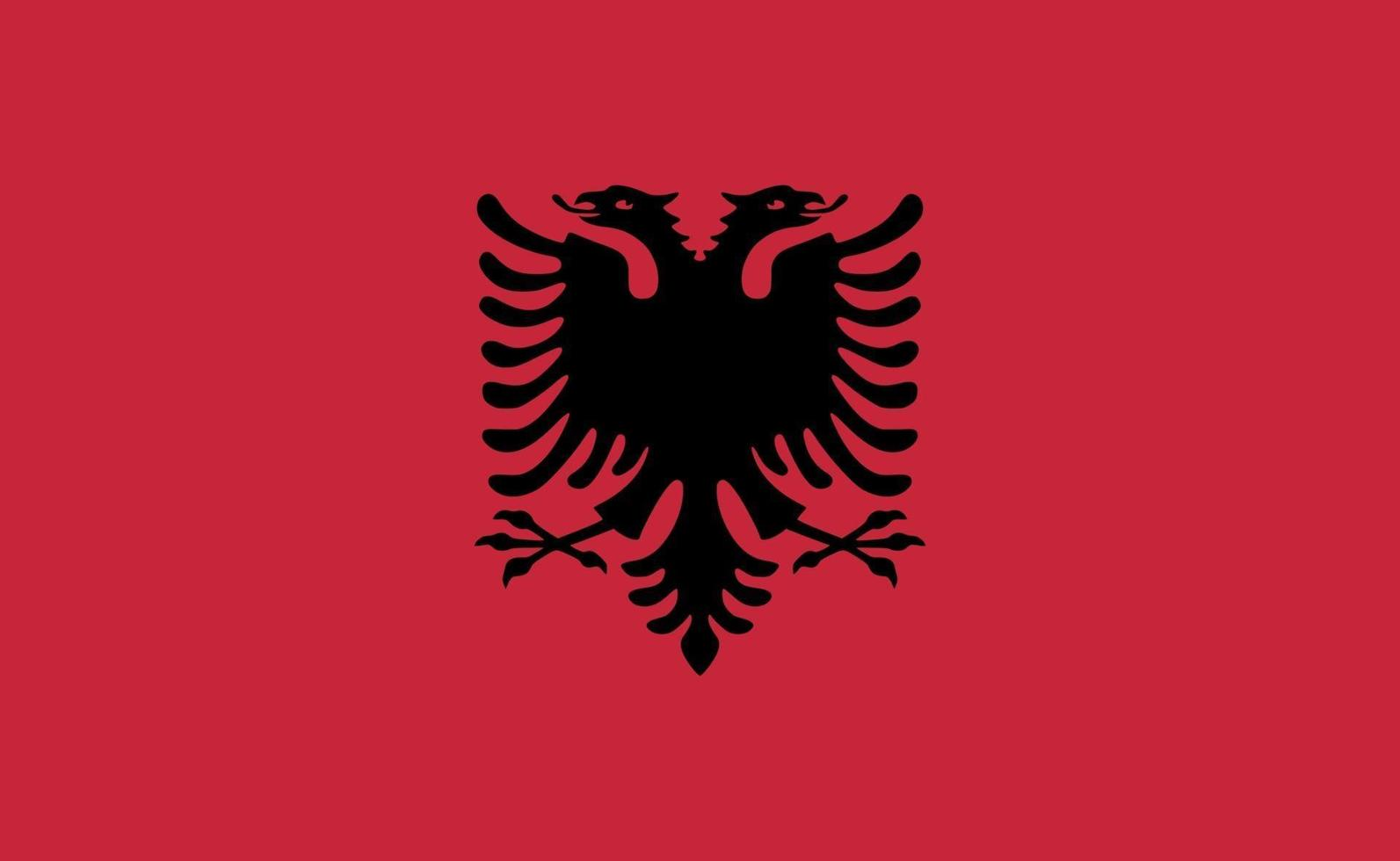 nationale vlag van Albanië in exacte verhoudingen - vectorillustratie vector