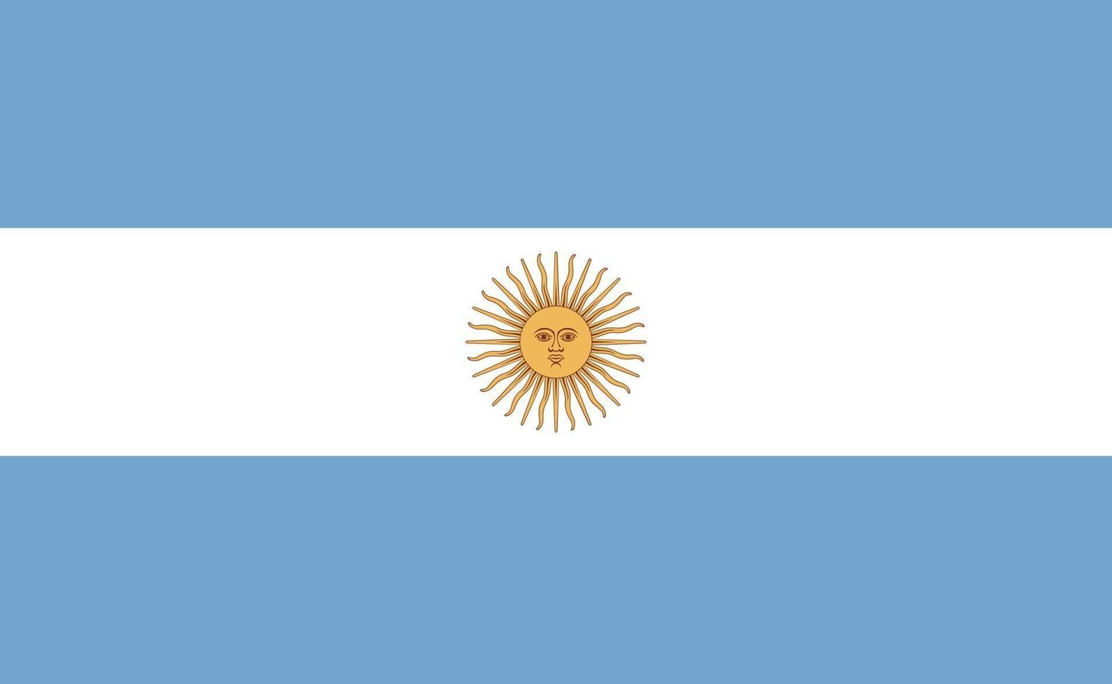 nationale vlag van Argentinië in exacte verhoudingen - vectorillustratie vector