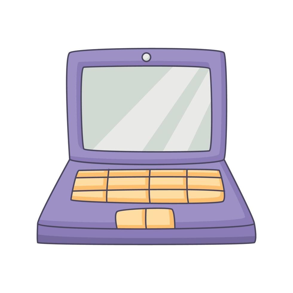 laptop cartoon doodle hand getrokken concept kawaii vectorillustratie vector