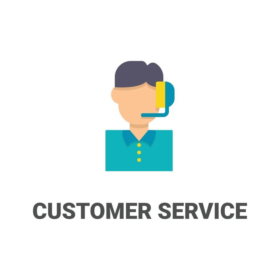 avatar klantenservice vector pictogram uit avatar collectie. vlakke stijlillustratie, perfect voor uw website, applicatie, afdrukproject, enz