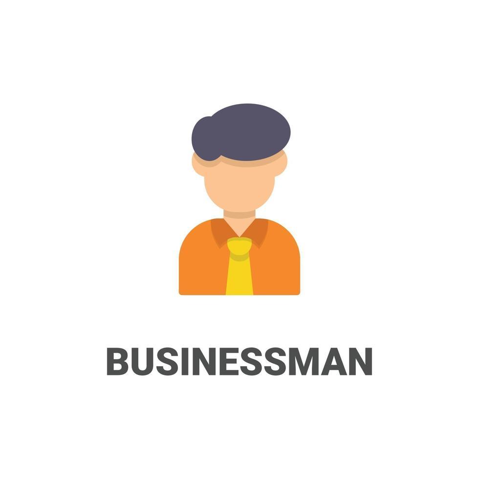 avatar zakenman vector pictogram uit avatar collectie. vlakke stijlillustratie, perfect voor uw website, applicatie, afdrukproject, enz