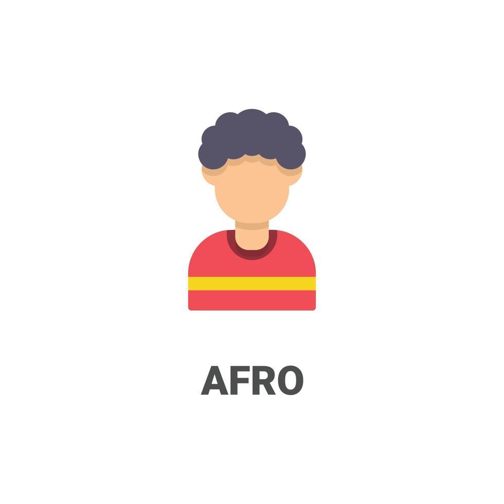 avatar afro vector icoon uit avatar collectie. vlakke stijlillustratie, perfect voor uw website, applicatie, afdrukproject, enz