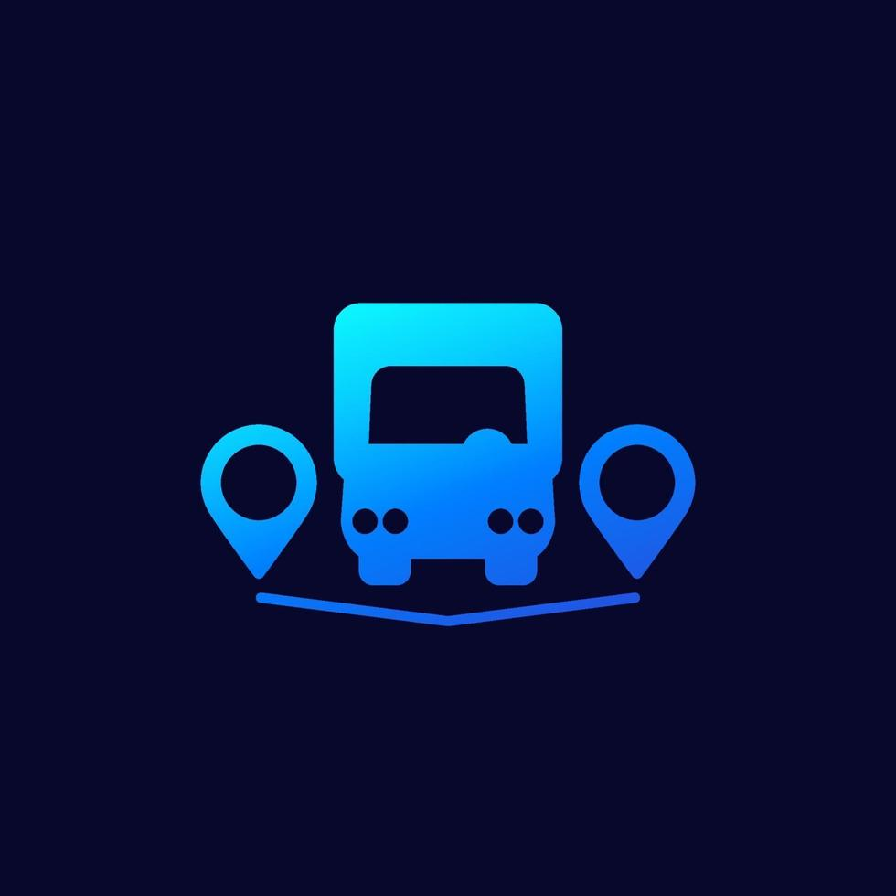 bestelwagen en afleverpunten icon.eps vector
