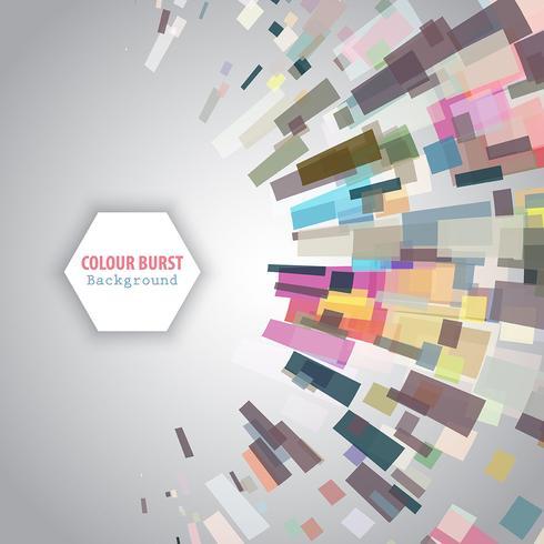 Kleur burst achtergrond vector