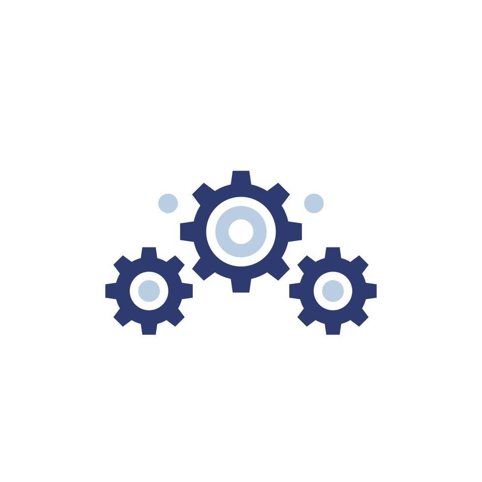 tandwielen vector pictogram op white.eps