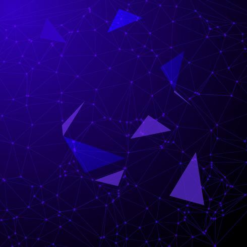 Laag poly-abstract met verbindingspunten vector