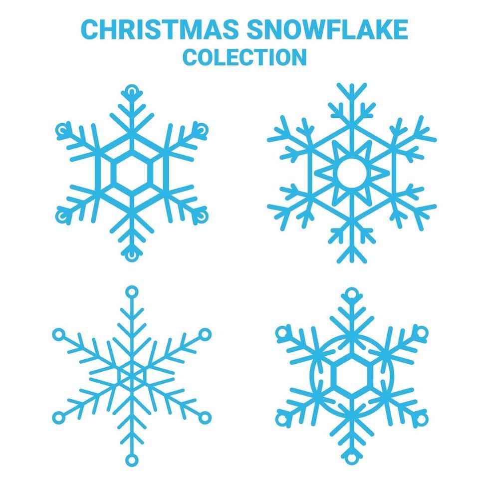 sneeuwvlok set vector, kerst sneeuw. vector