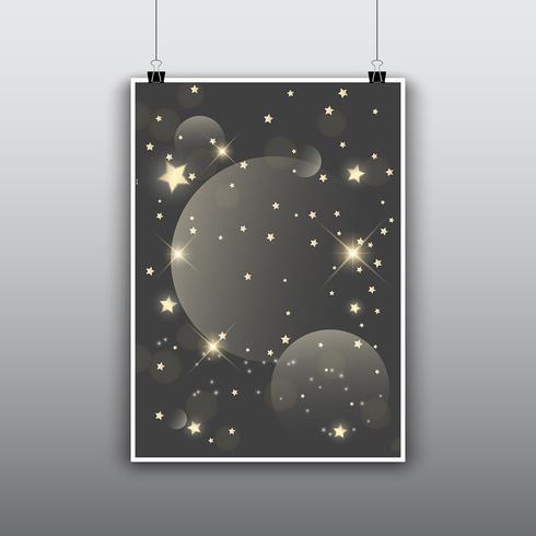 Sterrenontwerp met sterren vector
