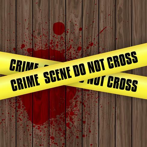 Bloed spetterde achtergrond van de misdaadscène vector