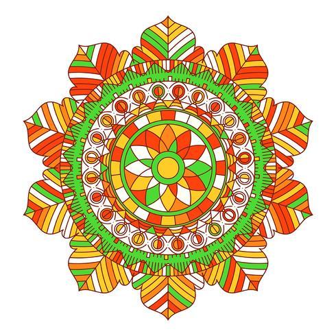 Mandala achtergrond vector