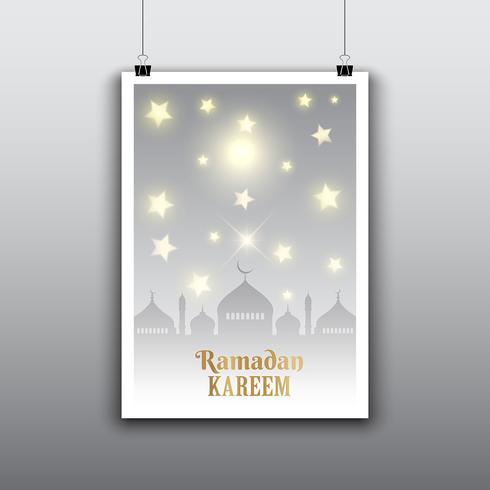 ramadan poster vector