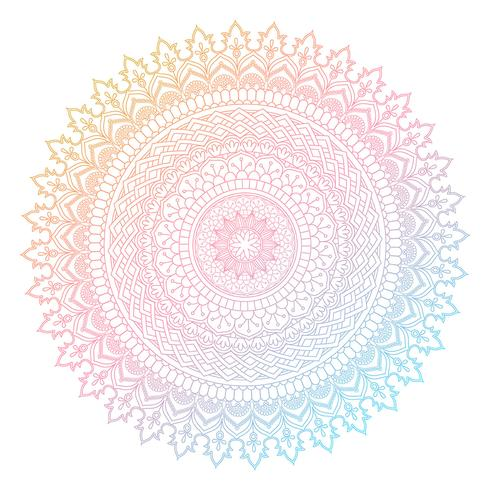 Kleurrijk mandalaontwerp vector