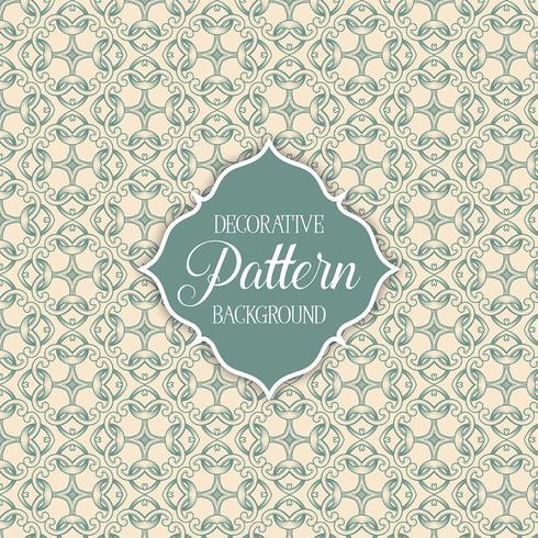 Decoratieve patroon achtergrond vector
