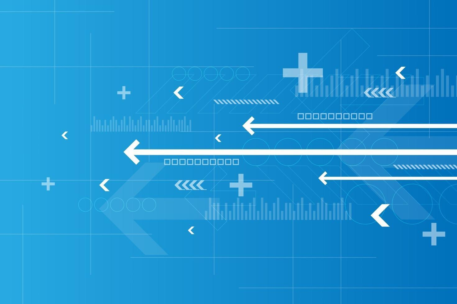 werking van digitale systemen die gegevens overdragen. vector