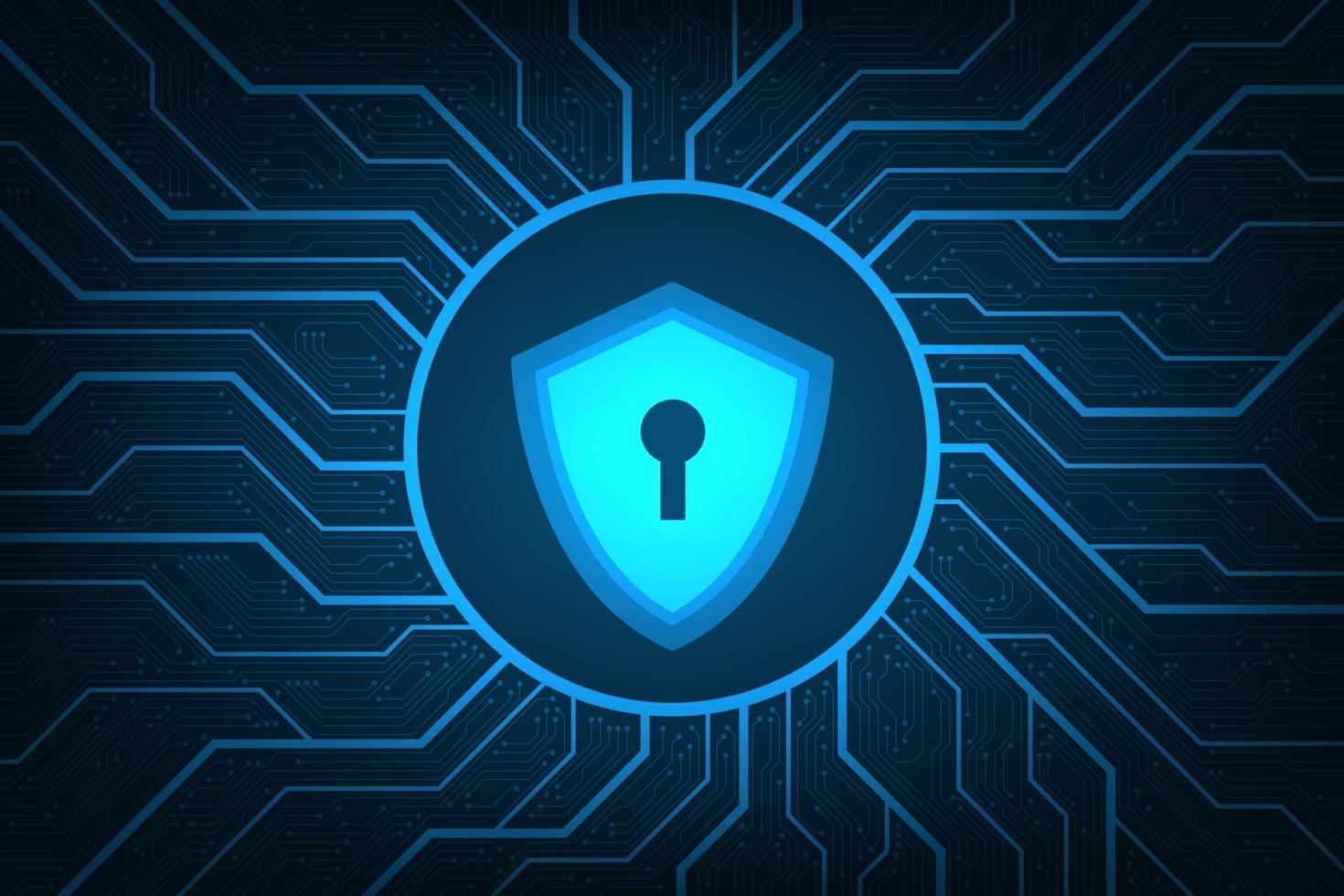 beveiligingssystemen die het hele digitale netwerk bestrijken. vector