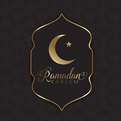 Gouden en zwarte ramadan achtergrond vector