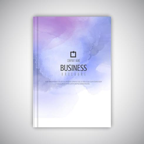Bedrijfsbrochure met waterverftextuur vector